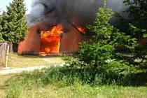 Požár v Mohelnici.