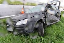 Nehoda mezi Vlčicemi a Skorošicemi