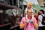Parní vlak Králický Sněžník v Hanušovicích