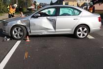 Při dopravní nehodě v Šumperku se zranil řidič motocyklu.