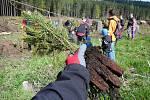 Akce Pojďme zalesnit Jeseníky v sobotu 4. května u Rejvízu.