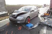 Dopravní nehoda u Libivé.