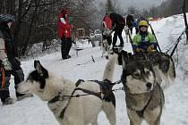 Musher Petr Brázda z Litovle udělal 20. února radost především nejmenším návštěvníkům ve Skiareálu Kareš v Koutech nad Desnou