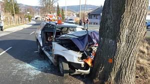 Tragická nehoda v Jeseníku 17. 3. 2019