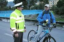 Policisté v Jeseníku kontrolovali cyklisty.