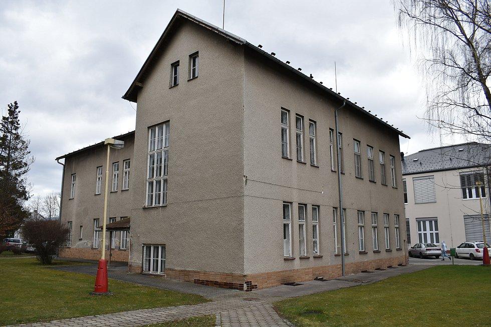 Nemocnice Šumperk. Budova bývalého ORL