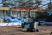 Rekonstrukce střechy zimního stadionu v Šumperku