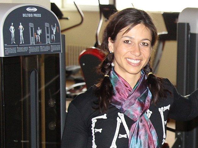 Petra Urbánková ve svém fitnescentru InCore Brno.