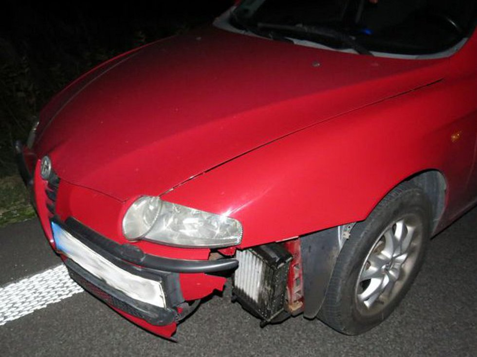 Pětapadesátiletému řidiči Alfy Romeo vběhla 13. září u Javorníku náhle do silnice srna. Škoda byla po nehodě vyčíslená na patnáct tisíc korun.