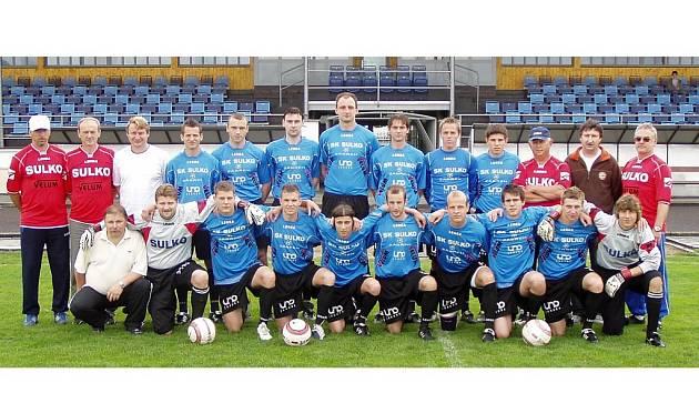 Divizního tým mužů SK Sulko Zábřeh, snímek vznikl před utkáním s Hrušovany.