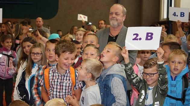 Zahájení školního roku na ZŠ Sluneční v Šumperku.