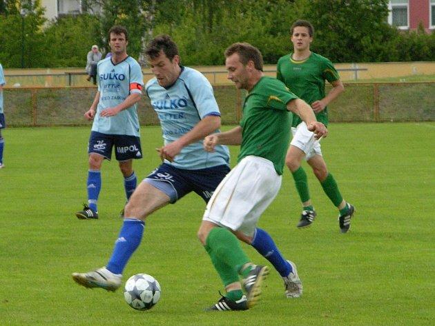 Zábřeh prohrál v Uničově (zelené dresy)