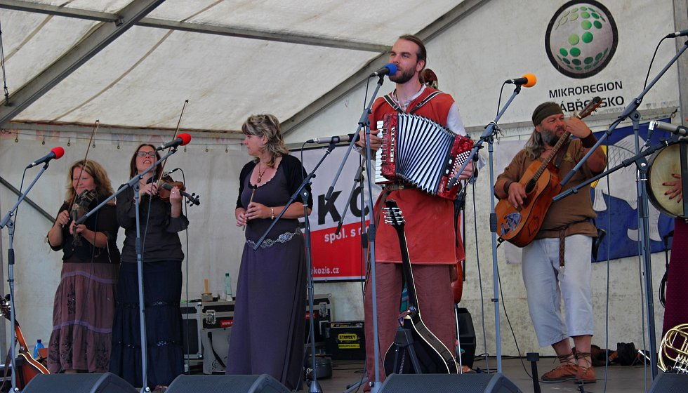 Středověké odpoledne na hradě Brníčko, 5. 7. 2019, kapela Kelt Grass Band