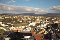 Pohled z webkamery umístění na radniční věži v Šumperku