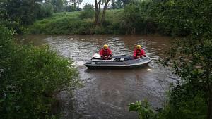 Pátrání po vodákovi, který u Moravičan vypadl z kanoe
