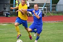 Šumperk versus Petrovice (modré dresy).