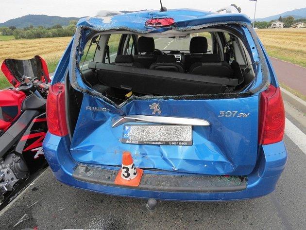 Tragická nehoda motorkáře u Rapotína