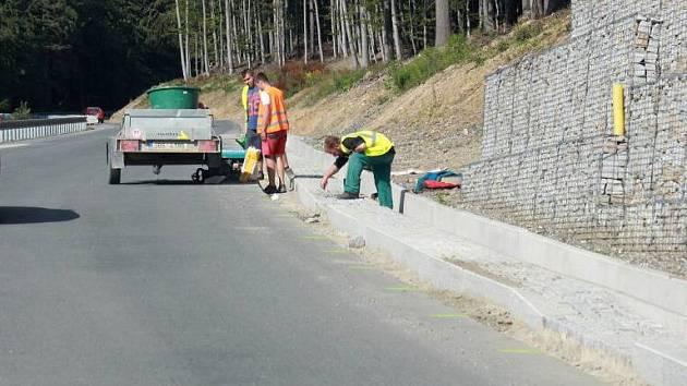 Rekonstrukce silnice na jižní straně Červenohorského sedla. Ilustrační foto