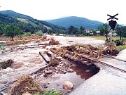 Takhle to vypadalo v Loučné při povodních v roce 1997