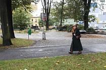 Parčík tvoří centrální část náměstí Svobody v Jeseníku.