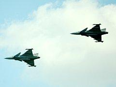 Bojové letouny Gripen. Ilustrační foto.