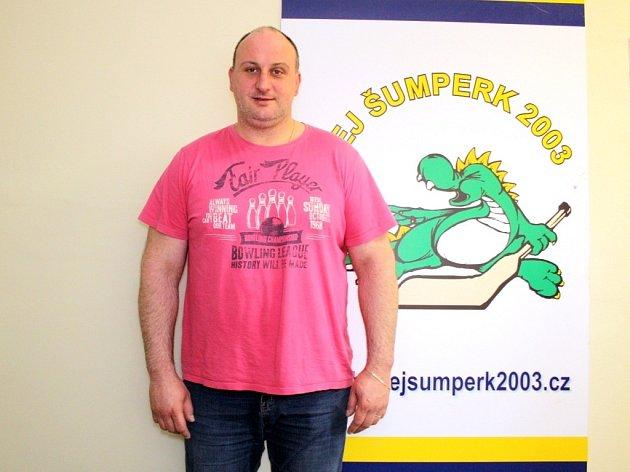 Trenér šumperského hokejového týmu Radek Kučera.