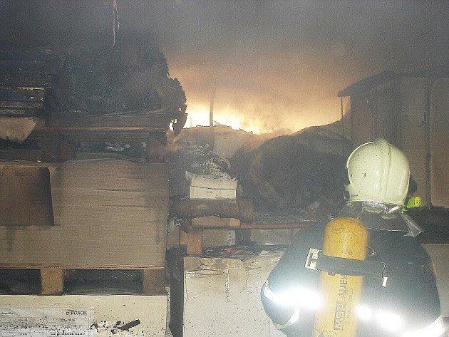 Požár Kartotisku v Šumperku