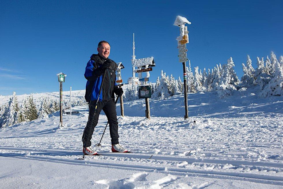 Zima v okolí Pradědu