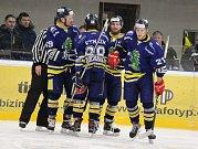 Šumperští hokejisté doma řádili. Ve druhém semifinále smetli Hodonín 6:2.