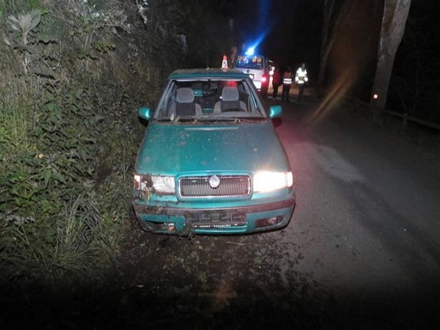 Nehodou poškozené vozidlo.