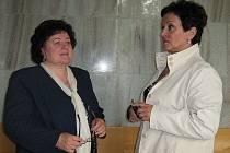Helena Raidová se svou advokátkou Jaroslavou Horákovou