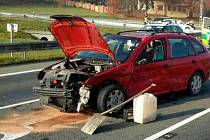 Nehoda u Zábřehu na křižovatce na Rájec