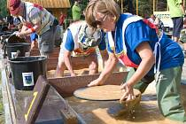 Šampionát v rýžování zlata ve Zlatých Horách