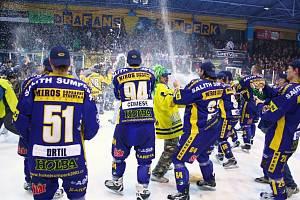 Šumperští hokejisté jsou velmi populární, jak je patrné z fotografie.