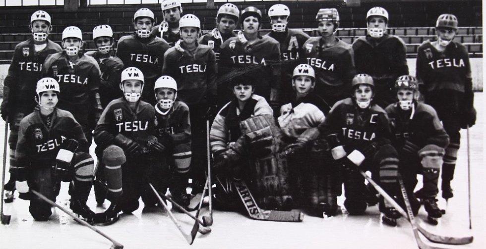 O štít únorového vítězství. První ročník turnaje mladších žáků v ledním hokeji 3.-5. března 1972, tým Praha Žižkov