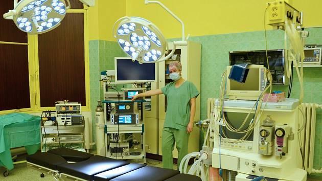 Moderně vybavený operační sál v Jesenické nemocnici.