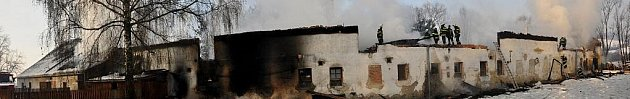 Požár dřevařské firmy vMostkově