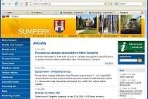 Internetové stránky města Šumperku