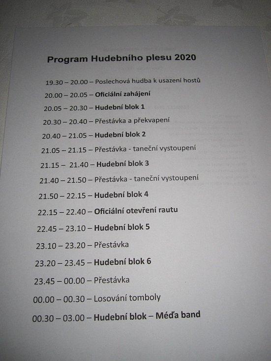 Hudební ples v Zábřehu 2020