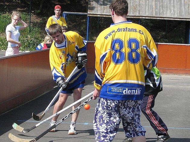 Hráči DraFans během jednoho ze zápasů