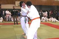 Snímek z vánočního turnaje v judo v Mohelnici.