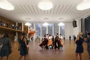 Navrhovaná podoba šumperského Domu kultury - velký sál bez elevace.