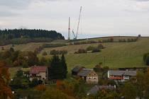 Výstavba větrných elektráren v Kopřivné.
