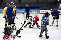 Fanoušci na tréninku šumperských hokejistů