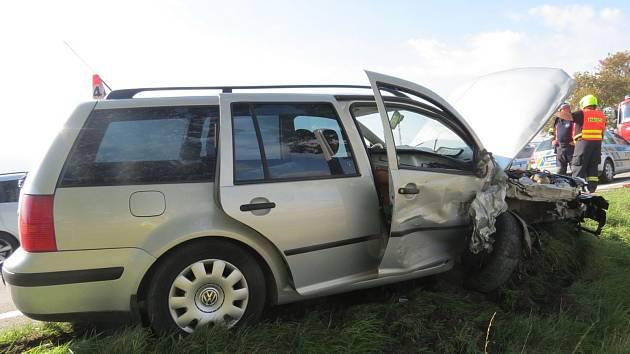 Dopravní nehoda u Libivé v pátek 13. září.