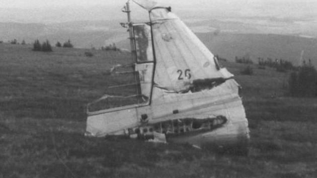 Snímky letounu po nehodě na Vysoké Holi.