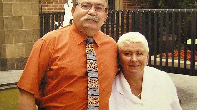 Milan Minář starší s manželkou Eliškou na archivní fotografii