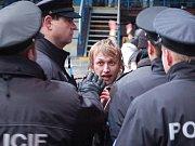 Olomoucký fanoušek v hodně emotivní rozmluvě s policisty