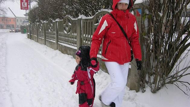 Jesenicko je pod sněhem