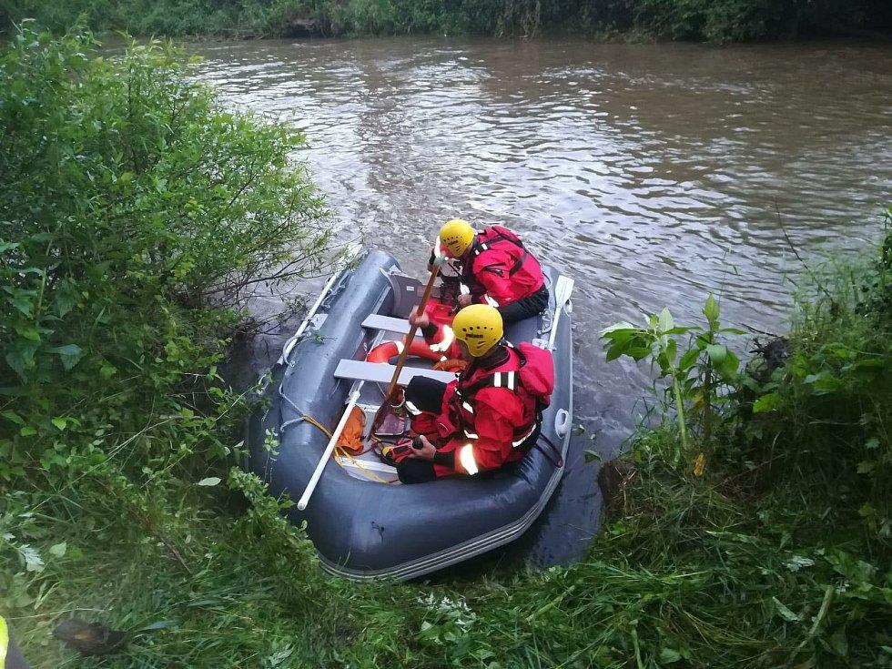 Pátrání po vodákovi, který u Moravičan vypadl z kanoe. 29. 6. 2020